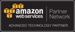 a badge for CyberStockroom by Amazon Web Services (AWS) saying 'Partner Network' and 'Advanced Technology Partner'